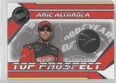 2007 Press Pass Stealth Top Prospect Race-Used Tire #AA-T - Aric Almirola /250