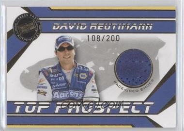 2007 Press Pass Traks - Top Prospect Race-Used - Gold Shoes #DR-S - David Reutimann /200