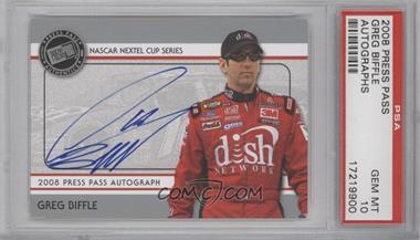 2008 Press Pass Autographs Silver #N/A - Greg Biffle [PSA 10]