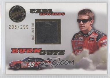 2008 Press Pass Eclipse - Burnouts Race-Used Tire - Gold #2 - Carl Edwards /299