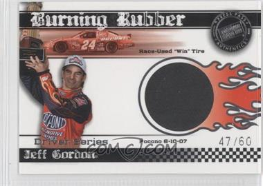 2008 Press Pass Eclipse Burning Rubber Race-Used Driver Series #BRD 13 - Jeff Gordon /60