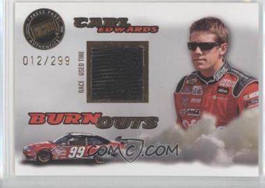 2008 Press Pass Eclipse Burnouts Race-Used Tire Gold #2 - Carl Edwards /299