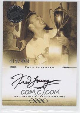2008 Press Pass Legends Autographs Black Ink [Autographed] #N/A - Fred Lorenzen /464