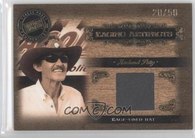 2008 Press Pass Legends Racing Artifacts Gold Hat #RP-H - Richard Petty /50