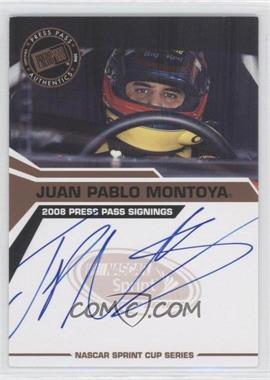 2008 Press Pass Press Pass Signings #JUMO - Juan Pablo Montoya