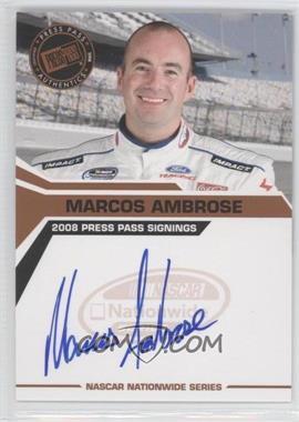 2008 Press Pass Press Pass Signings #MAAM - Marcos Ambrose