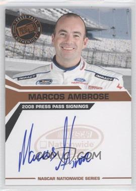 2008 Press Pass Press Pass Signings #MAAM - Marcos Ambrose