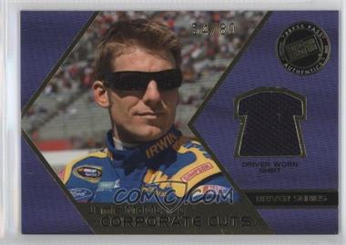 2008 Press Pass Speedway Corporate Cuts Driver Series Gold #CD-JM - Jamie McMurray /80