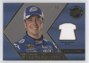 2008 Press Pass Speedway Corporate Cuts Driver Series Gold #CD-KUB - Kurt Busch /80
