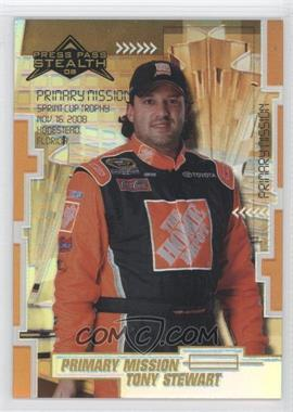 2008 Press Pass Stealth Chrome Exclusives #88 - Tony Stewart /25