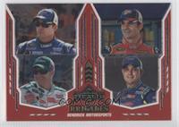 Casey Mears, Jimmie Johnson, Dale Earnhardt Jr., Jeff Gordon