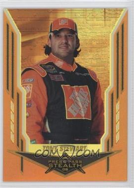2008 Press Pass Stealth Gold Chrome Exclusives #32 - Tony Stewart /99