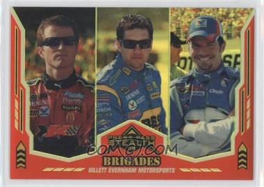 2008 Press Pass Stealth Gold Chrome Exclusives #66 - Kasey Kahne, Elliot Sadler, Patrick Carpentier /99