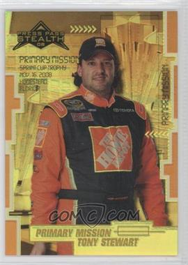 2008 Press Pass Stealth Gold Chrome Exclusives #88 - Tony Stewart /99
