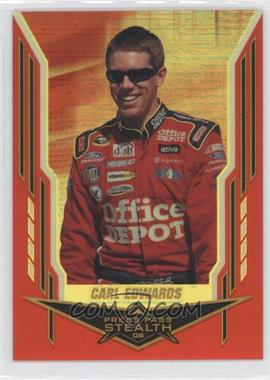 2008 Press Pass Stealth Gold Chrome Exclusives #9 - Carl Edwards /99