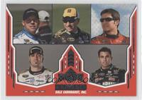 Regan Smith, Mark Martin, Martin Truex Jr., Paul Menard, Aric Almirola