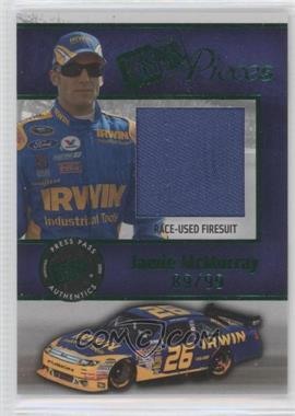 2009 Press Pass - Pieces Materials - Green #PP-JM - Jamie McMurray /99