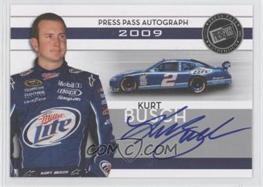2009 Press Pass Autographs Silver [Autographed] #KUBU - Kurt Busch
