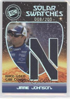 2009 Press Pass Eclipse Solar Swatches #SSJJ 7 - Jimmie Johnson (N) /200