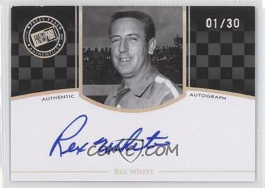 2009 Press Pass Legends [???] #N/A - Rex White /30