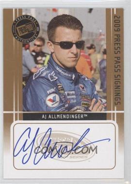 2009 Press Pass Press Pass Signings [Autographed] #AJAL - AJ Allmendinger