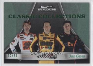 2009 Press Pass Showcase 3rd Gear #30 - Kyle Busch, Denny Hamlin, Joey Logano /50