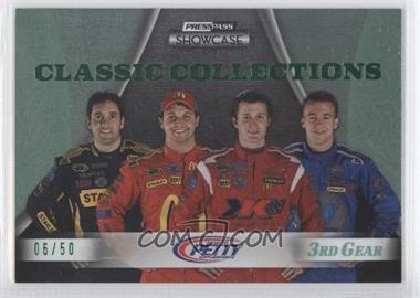 2009 Press Pass Showcase 3rd Gear #34 - AJ Allmendinger, Kasey Kahne, Elliot Sadler, Reed Sorenson /50