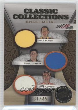 2009 Press Pass Showcase Classic Collections Sheet Metal #CCS-5 - Kyle Busch, Denny Hamlin, Joey Logano /45