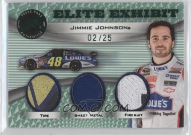 2009 Press Pass Showcase Elite Exhibit Green #EE-JJ - Jimmie Johnson /25