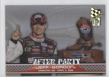 2009 Press Pass VIP After Party Transparent #AP 7 - Jeff Gordon