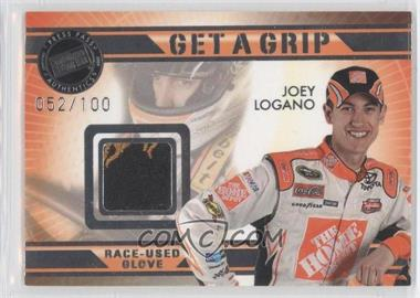 2009 Press Pass VIP Get a Grip Gloves #GG-JL - Joey Logano /100
