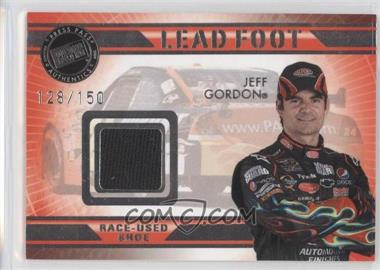 2009 Press Pass VIP Lead Foot #LF-JG - Jeff Gordon /150