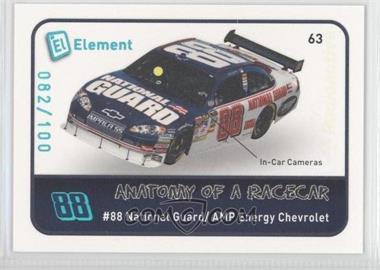 2009 Wheels Element - [Base] - Radioactive #63 - Dale Earnhardt Jr. /100