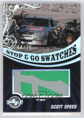 2009 Wheels Stop & Go Swatches Holo Pit Sign #SGS-SS - Scott Speed /75