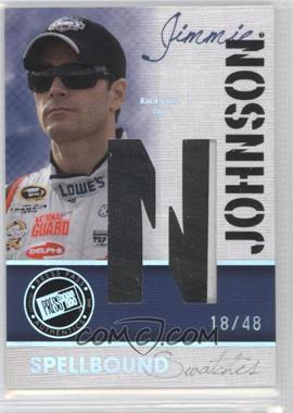 2010 Press Pass Eclipse Spellbound Swatches Holo #SS-JJ4 - Jimmie Johnson /48