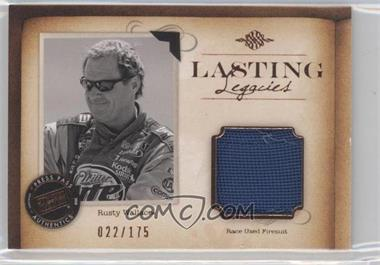 2010 Press Pass Legends - Lasting Legacies Memorabilia - Copper #LL-RW2 - Rusty Wallace /175