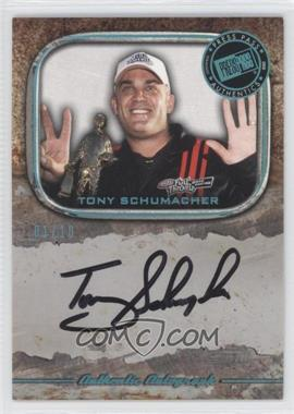 2010 Press Pass Legends Autographs Blue Holo [Autographed] #N/A - Tony Schumacher /10