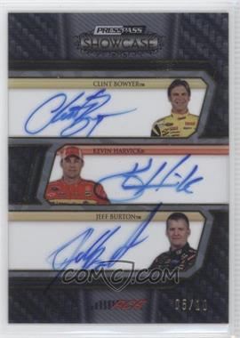 2010 Press Pass Showcase [???] #CCI-RCR - Clint Bowyer, Kevin Harvick, Jeff Burton /10