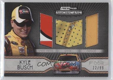 2010 Press Pass Showcase Elite Exhibit Memorabilia 1st Gear #EEM-2 - Kyle Busch /99