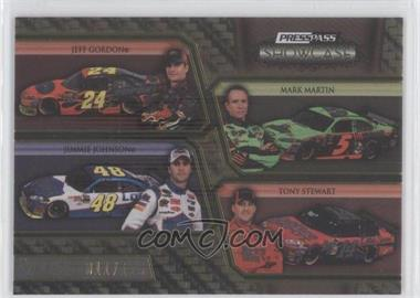 2010 Press Pass Showcase Gold 2nd Gear #28 - Jeff Gordon, Mark Martin, Jimmie Johnson, Tony Stewart /125