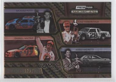 2010 Press Pass Showcase Gold 2nd Gear #29 - Richard Petty, Cale Yarborough, Darrell Waltrip, Mario Andretti /125