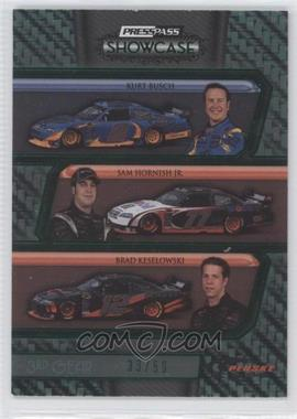 2010 Press Pass Showcase Green 3rd Gear #36 - Kurt Busch, Sam Hornish Jr., Brad Keselowski /50