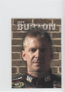 2010 Wheels Main Event Fight Cards Brick Wall #FC 5 - Jeff Burton /25