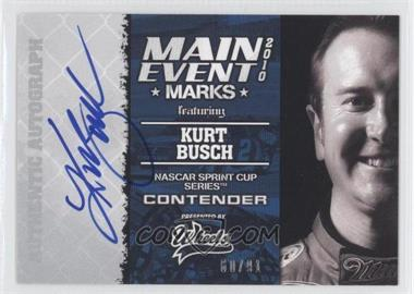 2010 Wheels Main Event Main Event Marks #KUBU - Kurt Busch /91