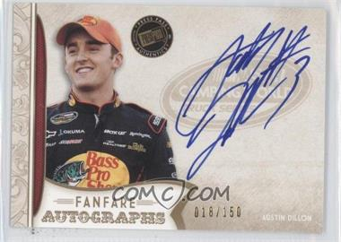2011 Press Pass Fanfare Fanfare Autographs Gold #FA-AD - Austin Dillon /150