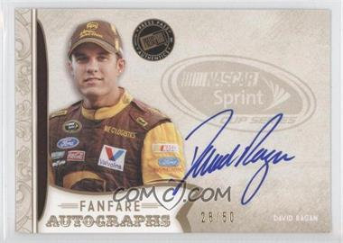 2011 Press Pass Fanfare Fanfare Autographs Gold #FA-DR1 - David Ragan /50