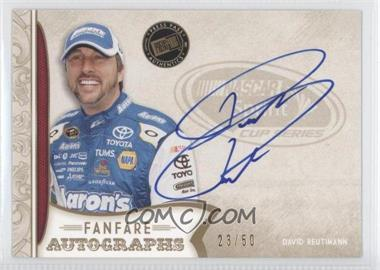 2011 Press Pass Fanfare Fanfare Autographs Gold #FA-DR2 - David Reutimann /50