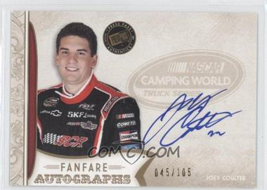 2011 Press Pass Fanfare Fanfare Autographs Gold #FA-JC - Joey Coulter /105