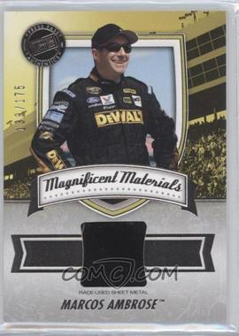 2011 Press Pass Fanfare Magnificent Materials #MM-MA - Marcos Ambrose /175