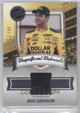 2011 Press Pass Fanfare Magnificent Materials #MM-RS2 - Reed Sorenson /199